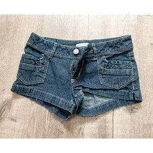 Dark blue jeans shorts